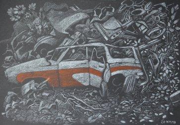 Automobil (Pastell)