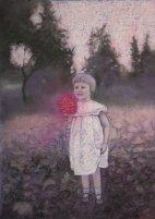 Das Mädchen mit der roten Blume (Pastell)