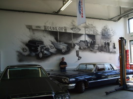Wandmalerei in Pomßen
