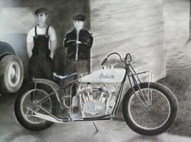 Detail Motorrad (Wandmalerei)