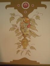 Fruchtgehänge, Restauration (Wandmalerei)