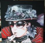 Gothik Girl 1 (Acryl auf Leinwand)